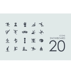Set of snowboard icons vector image