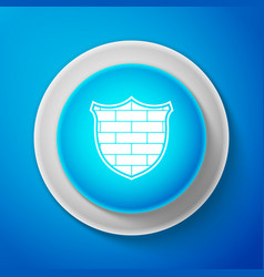 shield with cyber security brick wall icon vector image