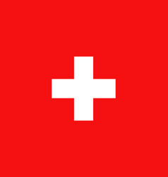 switzerland flag icon in flat style national sign vector image