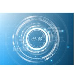 Technological digital abstract modern clock vector