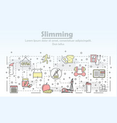 thin line art slimming poster banner vector image