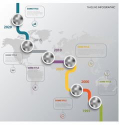 time line info graphic with winding design vector image