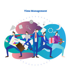 time management for business vector image