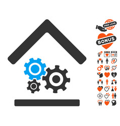 Workshop icon with lovely bonus vector