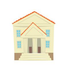 justice court building cartoon vector image vector image