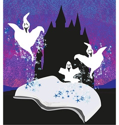 magic book with ghost stories vector image vector image