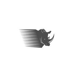 rhino fast logo vector image