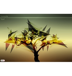 Shard tree vector image vector image