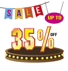 special 35 offer sale tag isolated vector image vector image