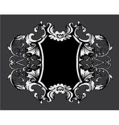 vintage frame with floral vector image vector image