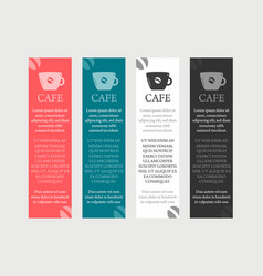 cafe coffee banner vector image vector image