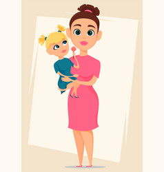 happy mothers day greeting card mother holding vector image
