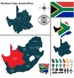 map of northern cape south africa vector image