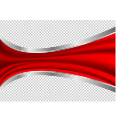 Red waves abstract transparency background vector