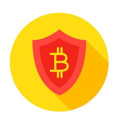 bitcoin secure circle icon vector image vector image