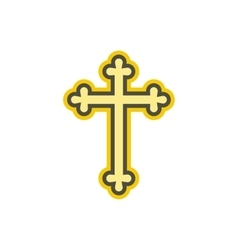 Christian cross flat icon vector image vector image
