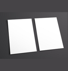 mockup two white blank on a black background vector image