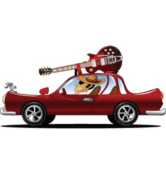 Rock star Driving vector image vector image