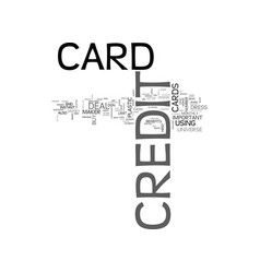 what is a credit card text word cloud concept vector image