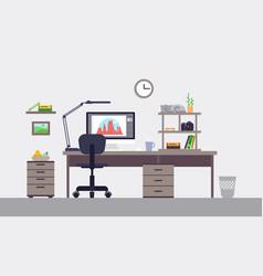 colorful designer workspace concept vector image