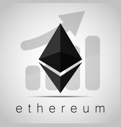 cryptocurrency ethereumstock vector image