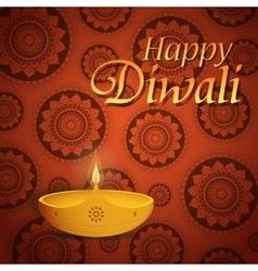 Diwali greeting card vector image vector image