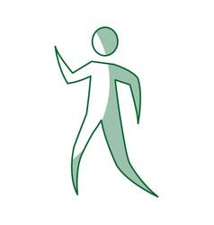 Human figure silhouette icon vector