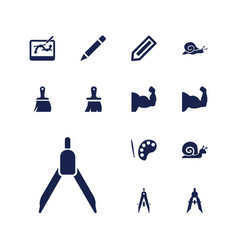13 draw icons vector