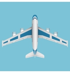 A airplane top view vector image