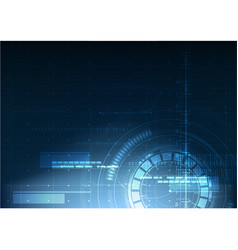 Abstract technological digital security hud vector