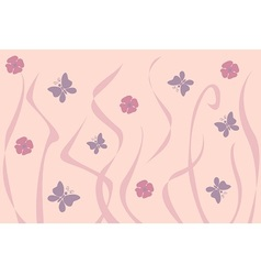 Art Nouveau inspired floral background vector image
