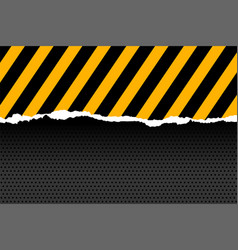 Black and yellow stripes in paper cut style vector