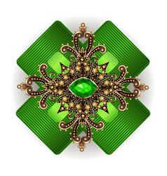 Brooch jewelry design element geometric vintage vector