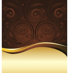 Brown and Gold Background3 vector image vector image