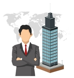 Businessman human resources icon graphic vector