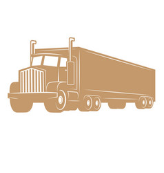 Cargo truck isolated on white vector