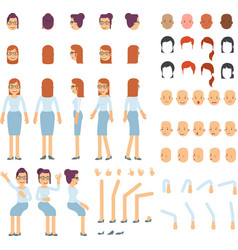 Cartoon of female body various of body legs and vector