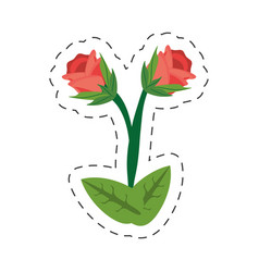 cartoon rose flower image vector image