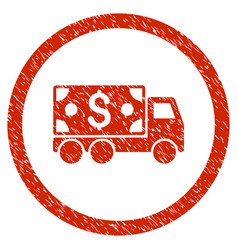 Cash delivery rounded grainy icon vector