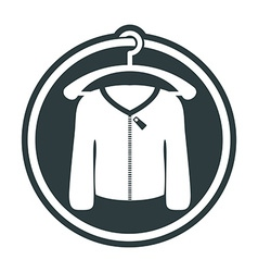 Cloth icon of man sweater vector