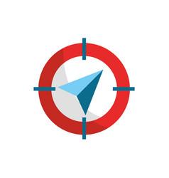 compass arrow destination gps map and navigation vector image
