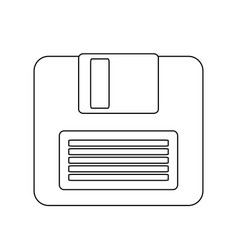Computer diskette icon image vector