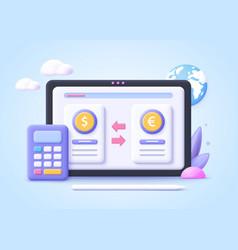 Concept digital currency exchange finance vector