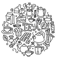 concept tea sign vector image
