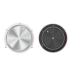 Creative of dial knob level vector