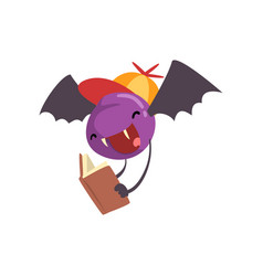 cute freaky monster funny bat cartoon character vector image