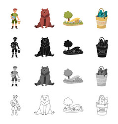 Design nature and fun icon collection vector