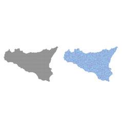 Dot sicilia map abstractions vector