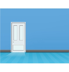 empty blue room vector image
