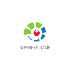 eye technology spy company logo vector image